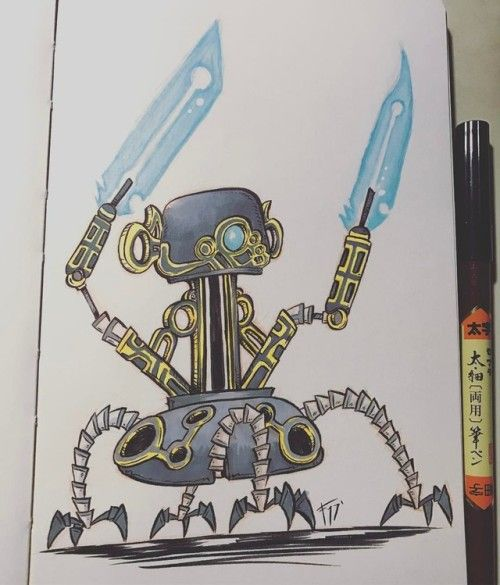 Sword Guardian From Breath Of The Wild Art Artwork Draw