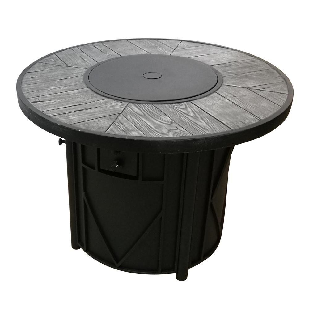 Hampton Bay Castle Hill Gas Fire Pit Srgf21626 The Home Depot