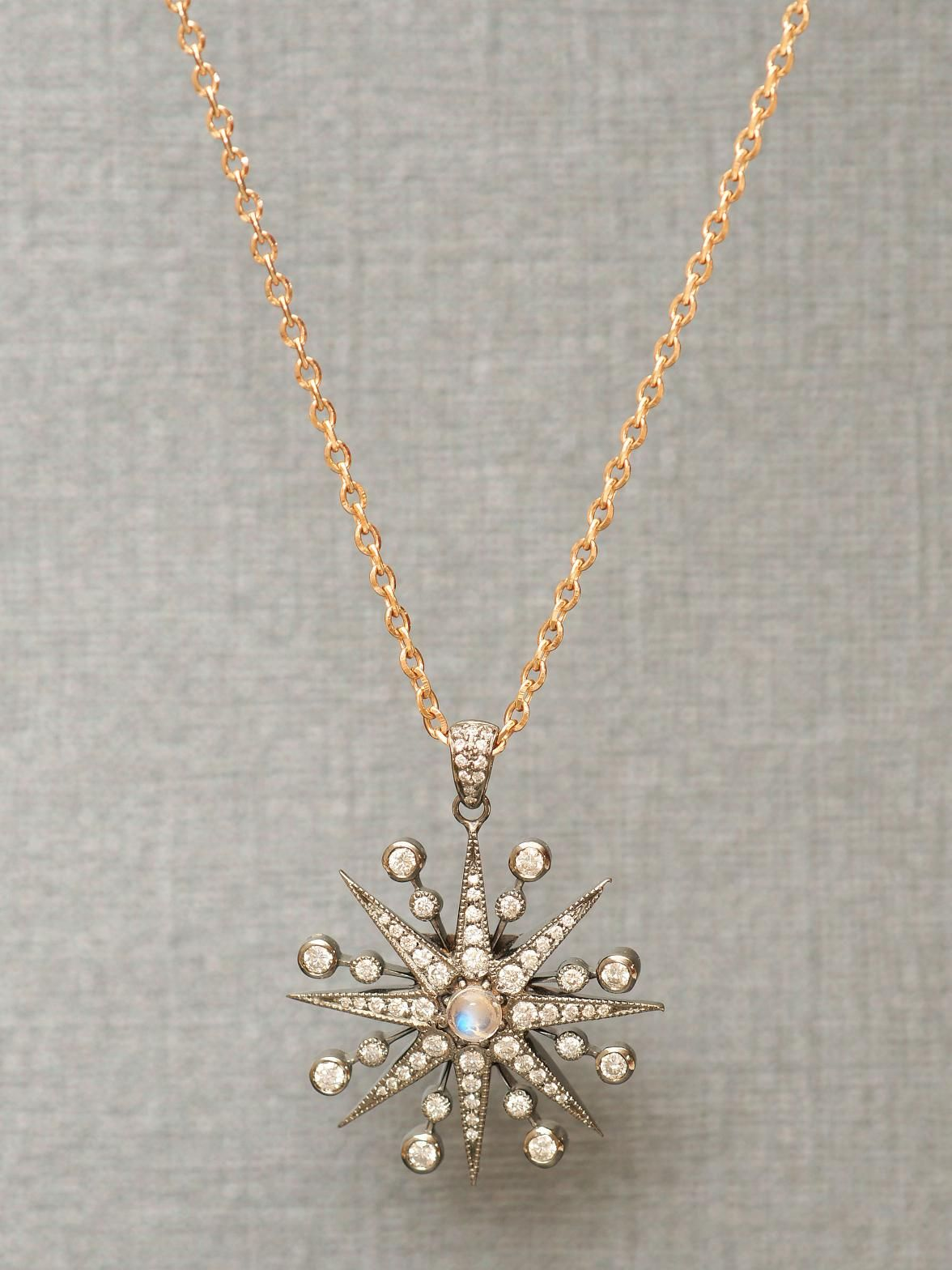 Colette 18k Black and Rose Gold Star Pendant Necklace at London Jewelers!