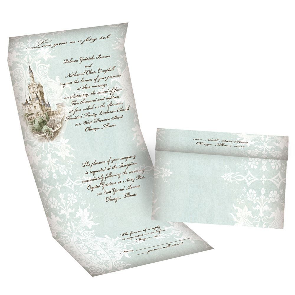 Fairy Tale Wedding Invitations: Like a Dream Seal and Send Invitation |  Fairytale wedding invitations, Cheap wedding invitations, Wedding  invitations romantic