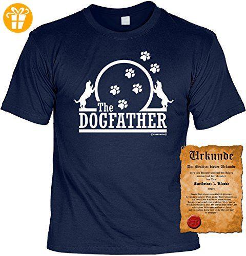 T-Shirt The Dogfather Hunde Fun Shirt Geburtstag Geschenk geil bedruckt mit Zweibeiner Urkunde (*Partner-Link)