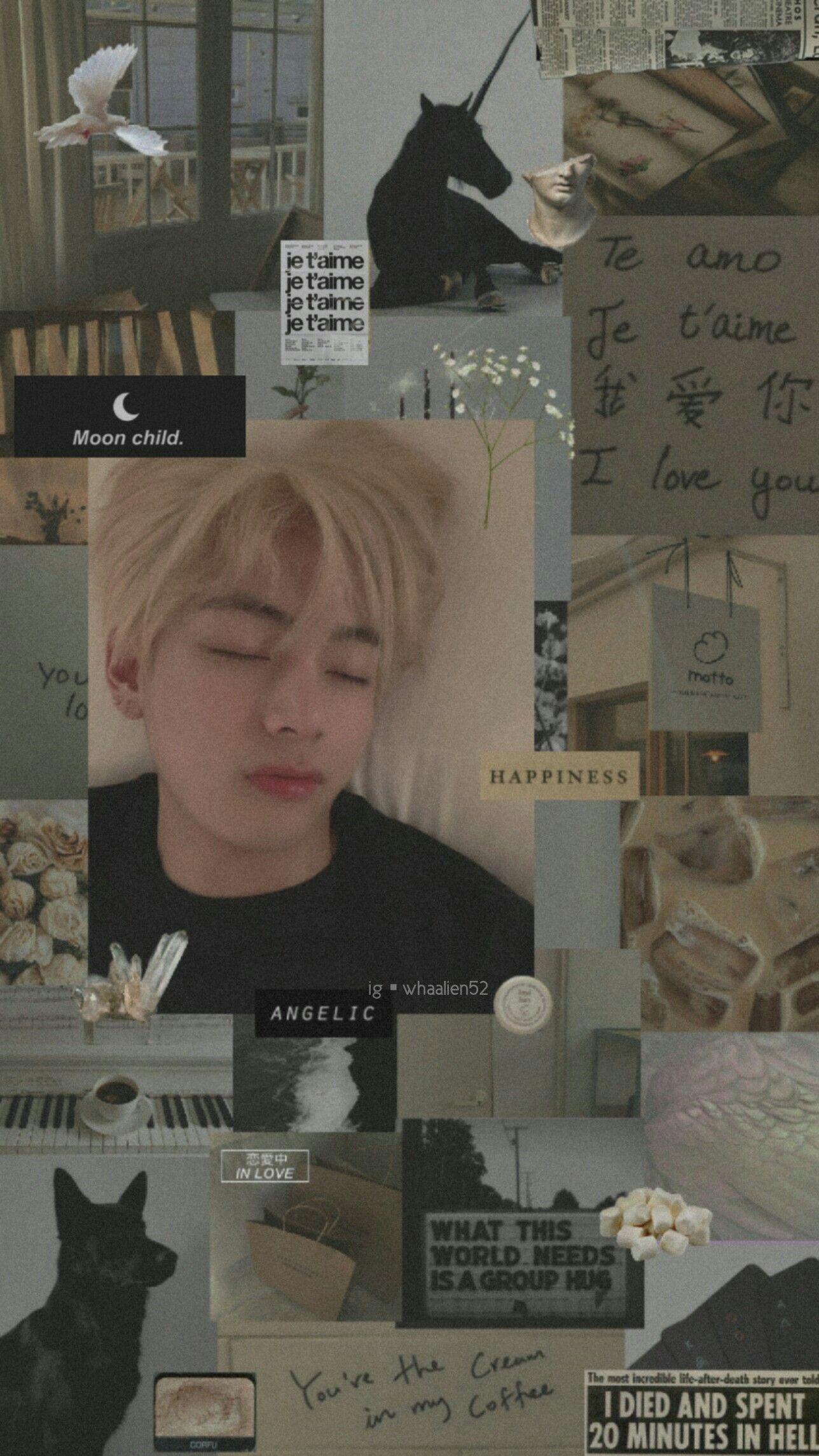 Aesthetic Taehyung Bts Wallpaper V Bts Tae Dengan Gambar