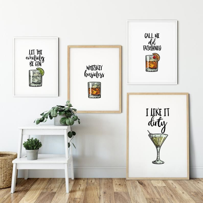 Pin On Cocktail Wall Art