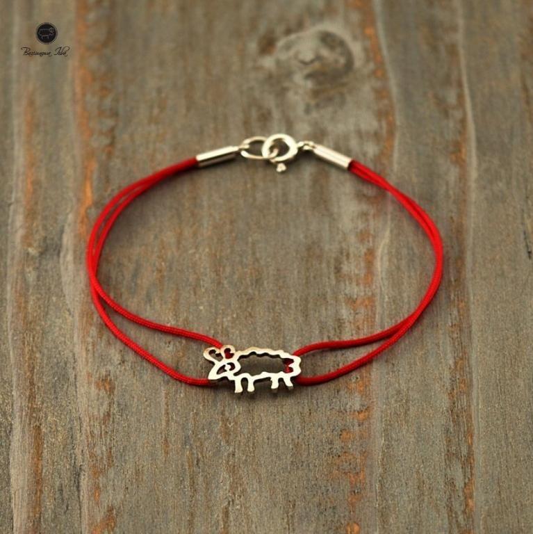 Bransoletka Srebrna Baranek Baziunowa Izba Jewelry Bracelets Accessories