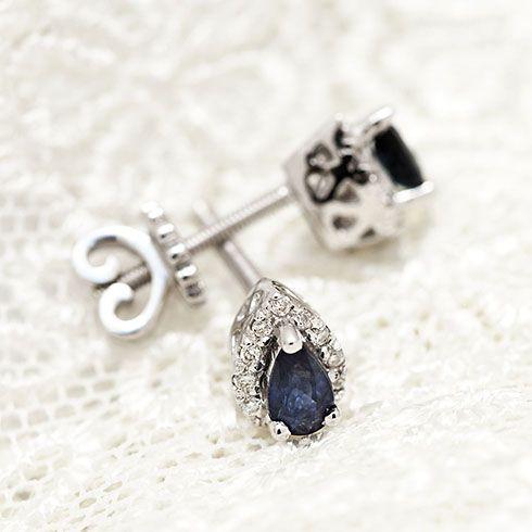 Coriolan blue saphire and diamonds earings