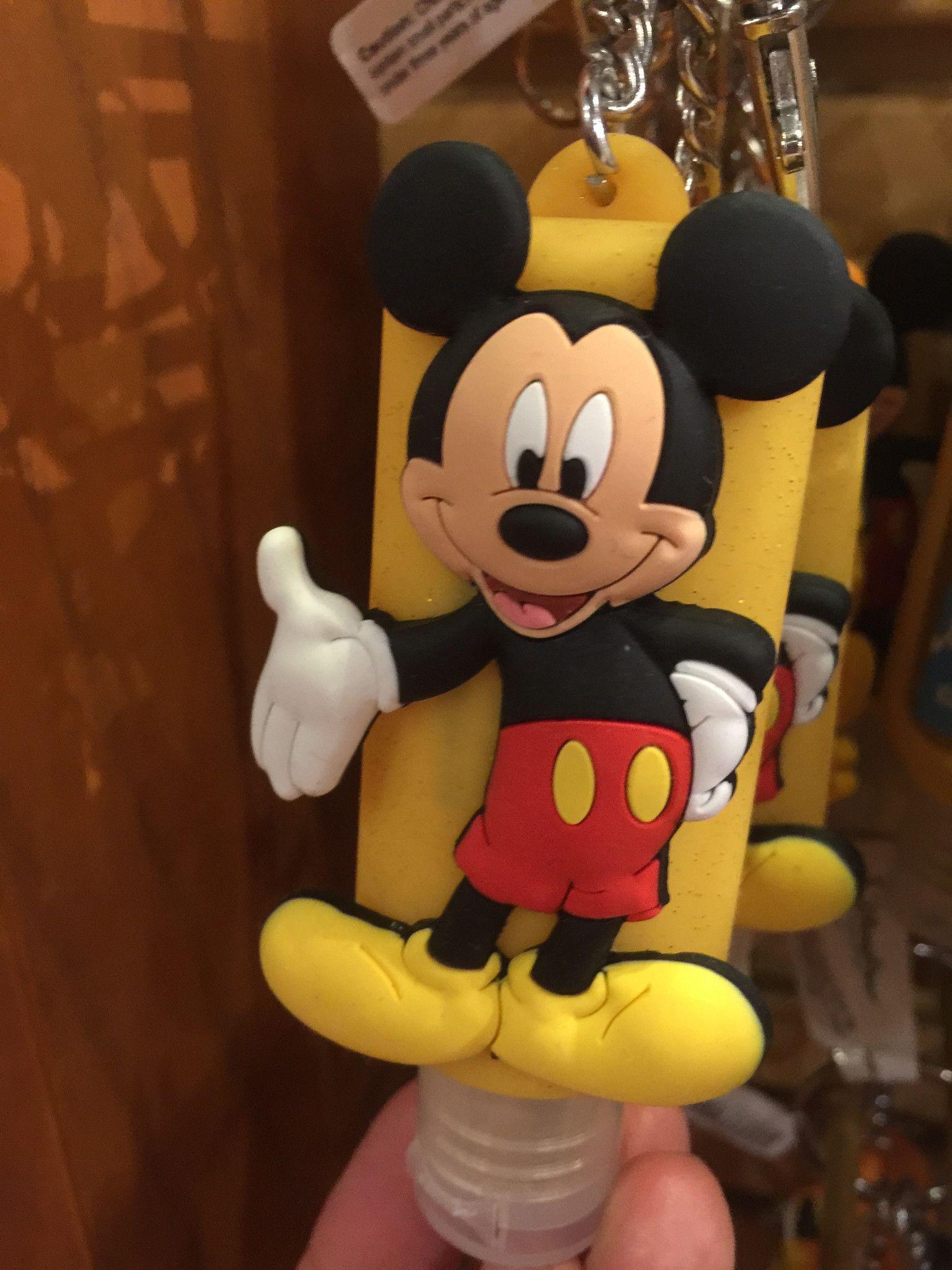 Disney Parks Keychain Keyring Hand Sanitizer Mickey Mouse 1oz New