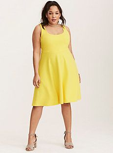 Textured Crossback Skater Dress