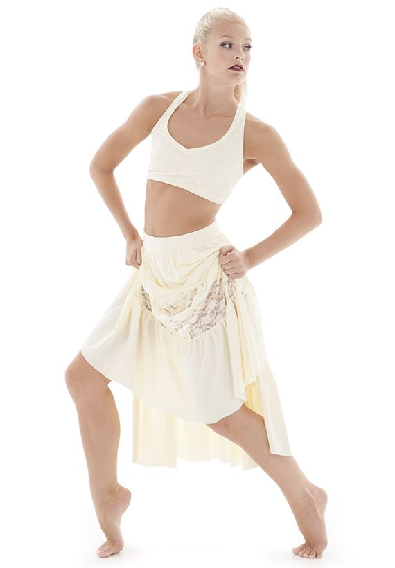 Long skirt with crop top dance costume, Perfect for a ...