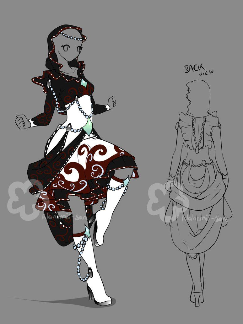 Fantasy Dress Design - sold by Nahemii-san on DeviantArt