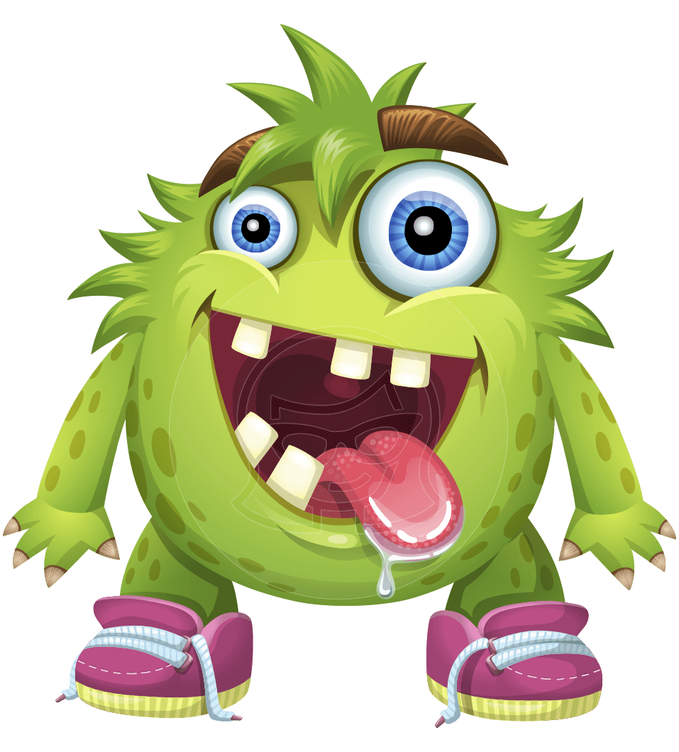 Cartoon Characters Monsters : A monster vector cartoon illustrated with messy look
