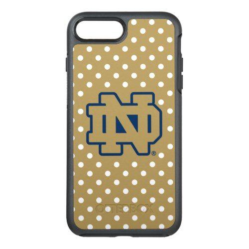 reputable site 367d6 0cea4 Notre Dame Polka Dots OtterBox Symmetry iPhone 7 Plus Case | iPhone ...