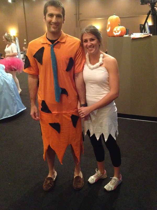 DIY Fred u0026 Wilma Flintstone Halloween Costume Idea  sc 1 st  Pinterest & DIY Fred Flintstone Costume | Pinterest | Wilma flintstone ...
