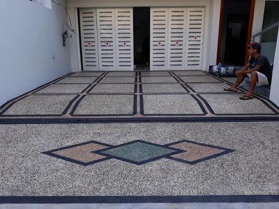 Model Lantai Carport Minimalis Depan Rumah Lantai Desain Ornamen Taman