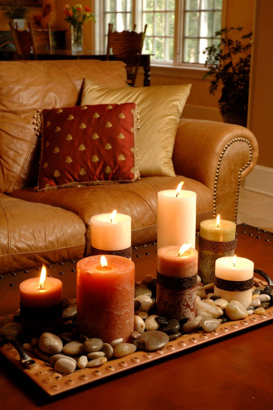 Candle Decor For Coffee Table 34 Best Candle Decoration Ideas