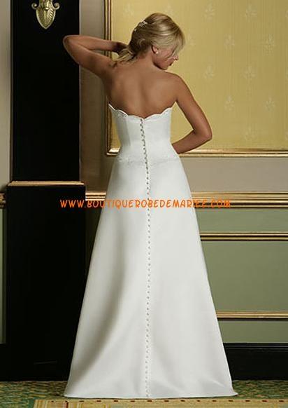 Robe de mariee droite sans traine