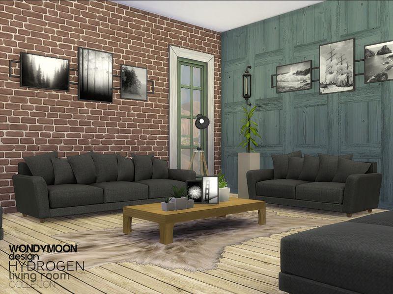 Wondymoon 39 s hydrogen living sims 4 living room sets for Living room sims 4