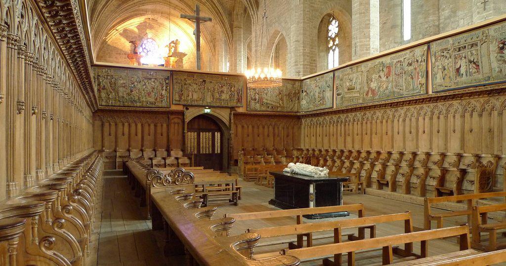 Chœur Des Moines Abbatiale Xive S De La Chaise Dieu Haute Loire France Med Bilder Arkitektur