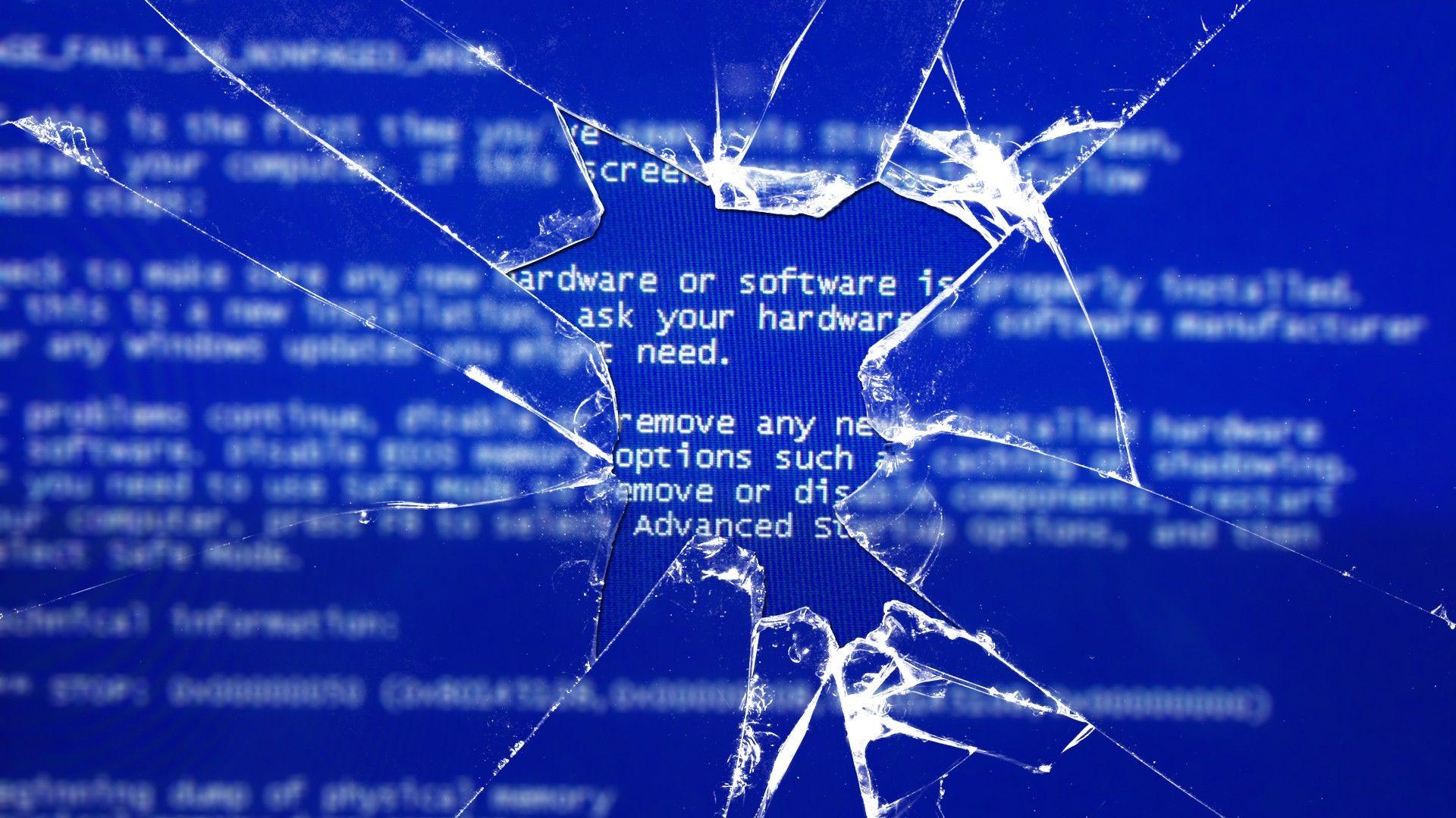 blue screen broken screen wallpaper 2018 wallpapers hd wallpaper rh pinterest com