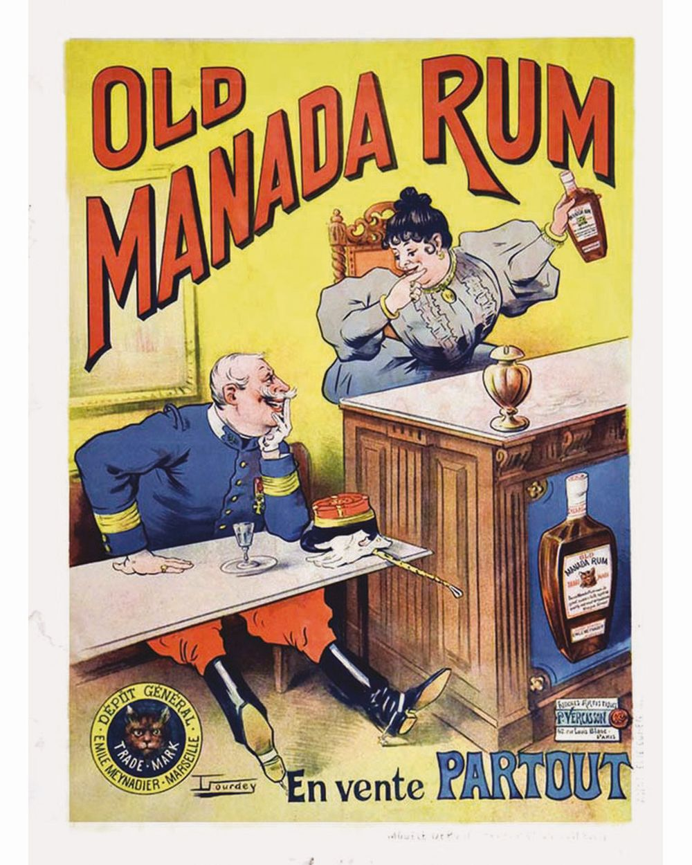 Sold Price Sourdey T Old Manada Rum Dépôt Légal Emile Meynadier Vers 1900 Marseille Bouches Du Rhône June 5 0119 2 00 Pm Cest Rum Comic Book Cover Olds