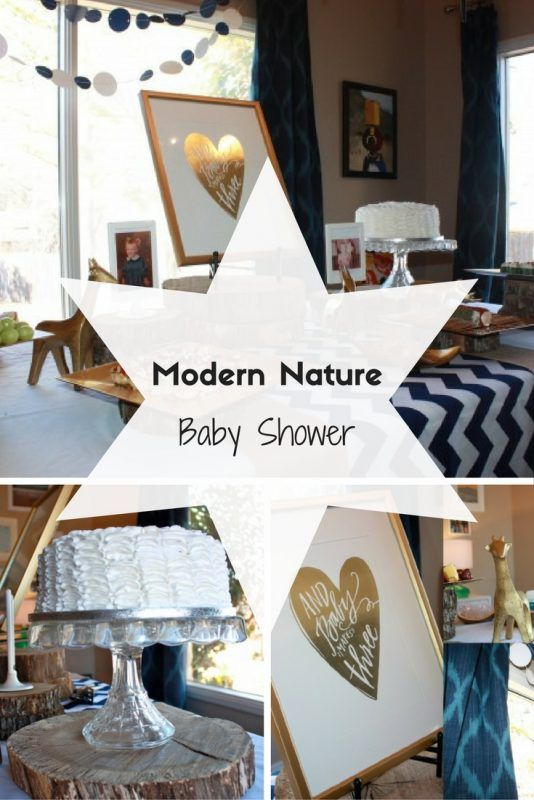 An Adorable Modern Nature Themed Baby Shower Nature Baby Shower Creative Baby Shower Natural Baby
