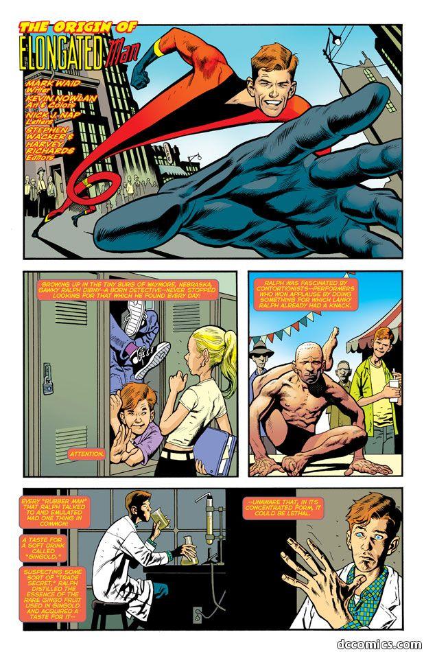 Elongated Man P1 Comic Movies Superhero Names Comic Artist
