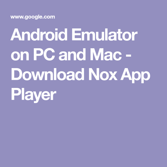 download nox app player emulator