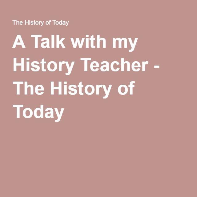 A Talk with my History Teacher