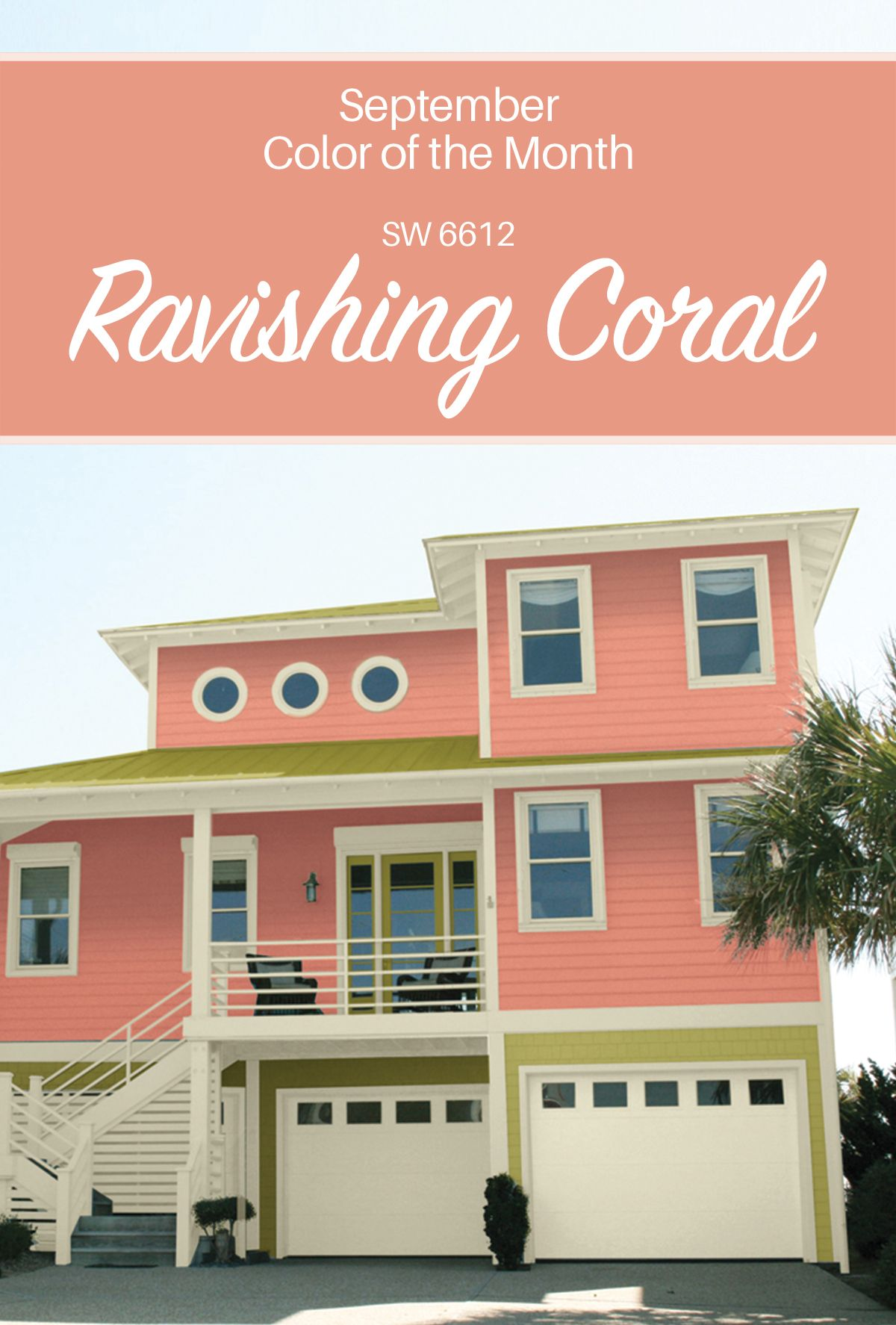 ravishing garden homes austin tx. Sherwin Williams  September Color of the Month Ravishing Coral SW 6612