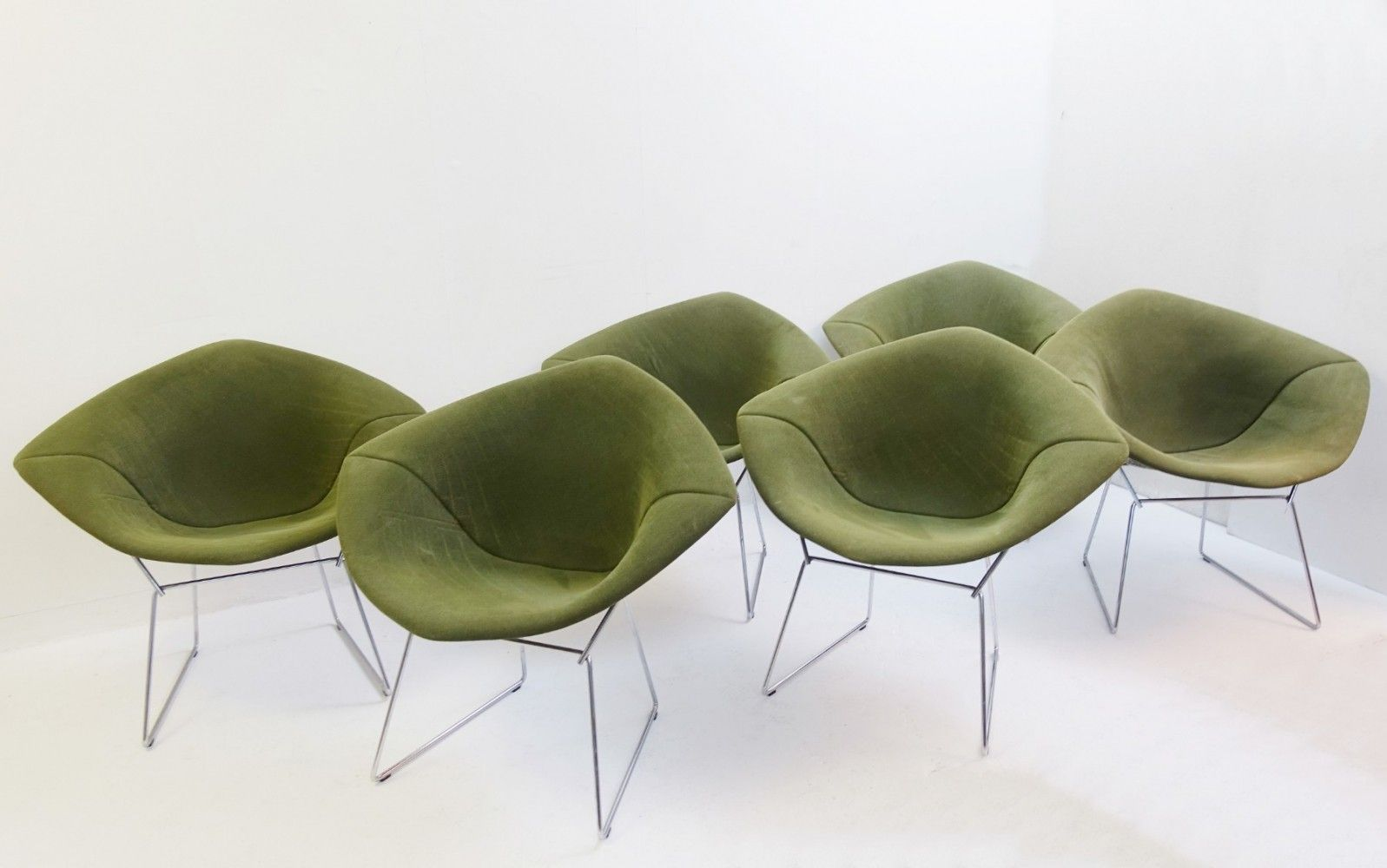 For Sale 6 Diamond Chairs By Harry Bertoia For Knoll International