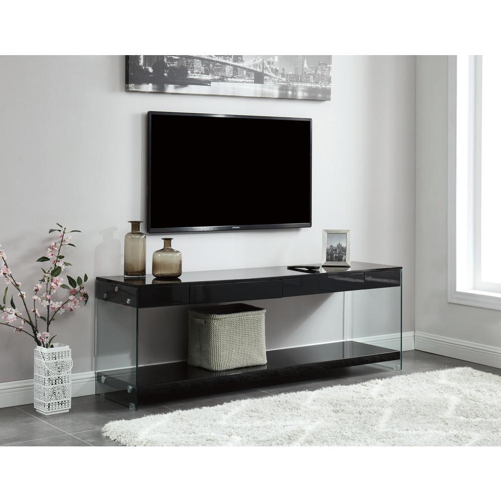 Furniture Of America Jubilee Black 60 In Tv Stand Console
