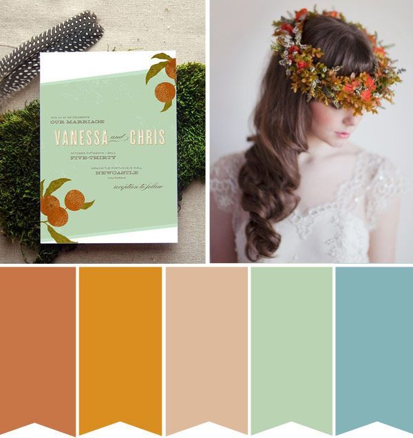 Rust Copper and Aqua Blue: A Rustic Wedding Colour Palette ...