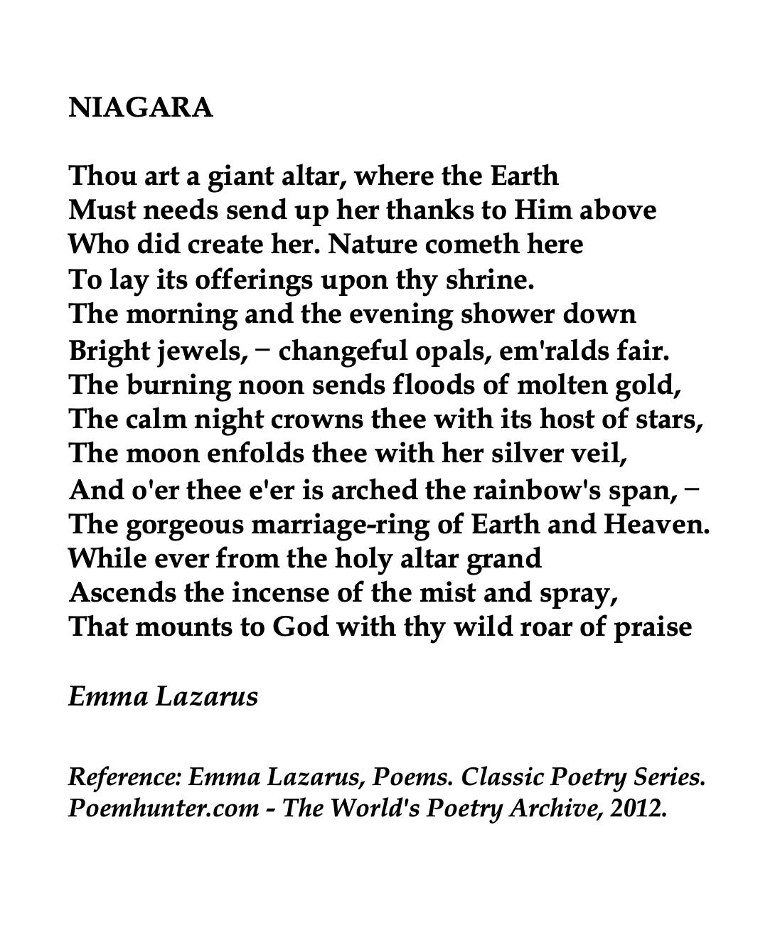 Emma Lazarus Poems Classic Poetry Series Poemhuntercom