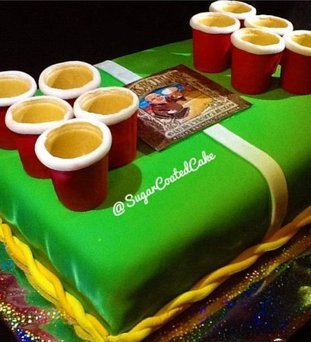 Beer Pong Cake Beer birthday cakes, 10th birthday cakes ...