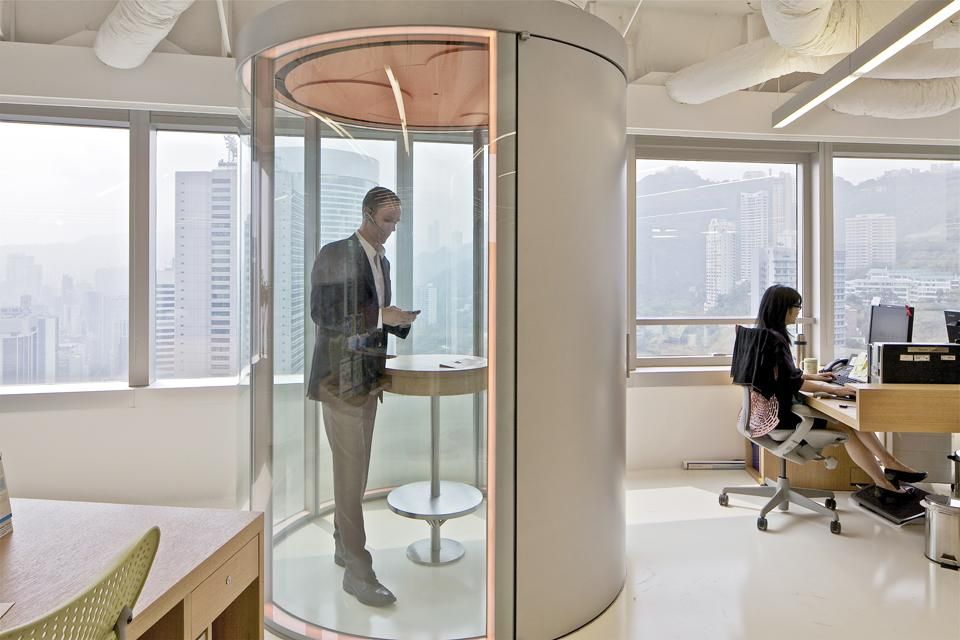 Phone booth McKinsey Hong Kong Office by OMA  Office Space