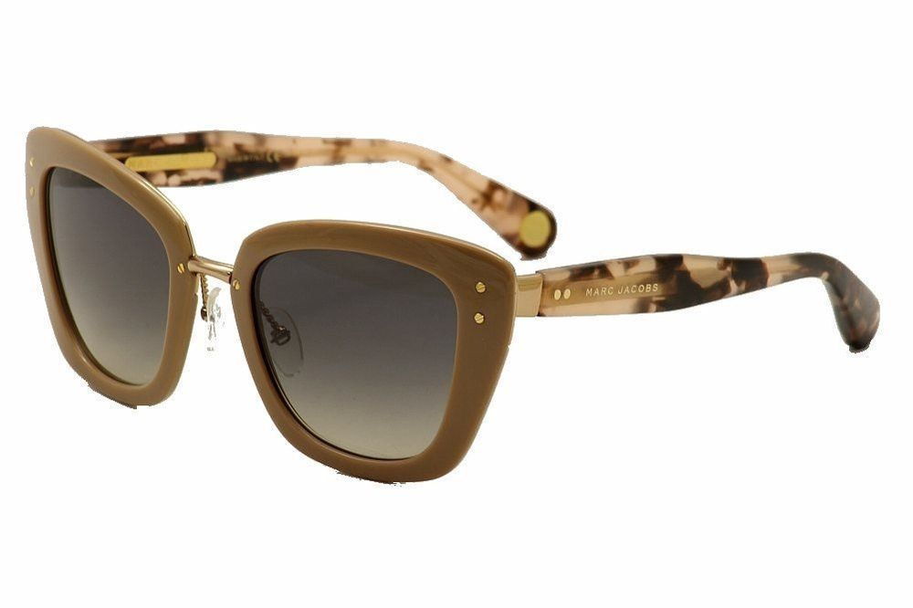 Marc Jacobs Sunglasses Women's Thick Frame Sunglasses Gold