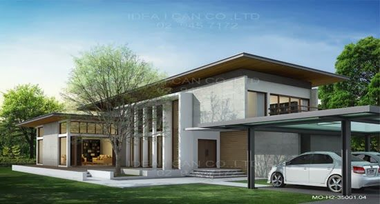 Modern Style 2 Story Home Plans For Construction In Thai Living Area 350 Sq
