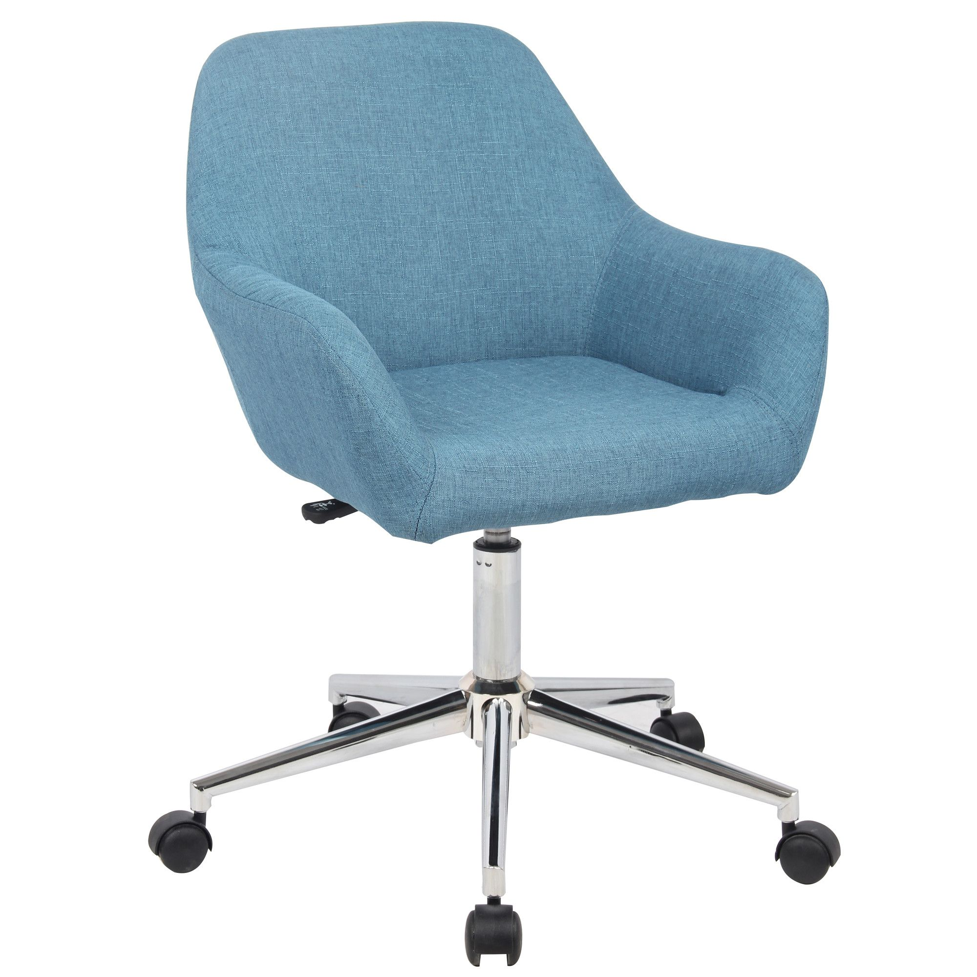 Features High Quality Fabric Chrome Base Caster Wheels Upholstered Product Type D Luxury Office Chairs Upholstered Office Chair Office Chair Design