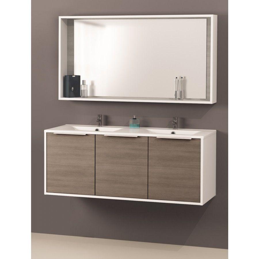 Edge Olmo Elba Blanc Brillant Meuble Sous Plan De Toilette 3 Portes Soft Close 120cm Banyo