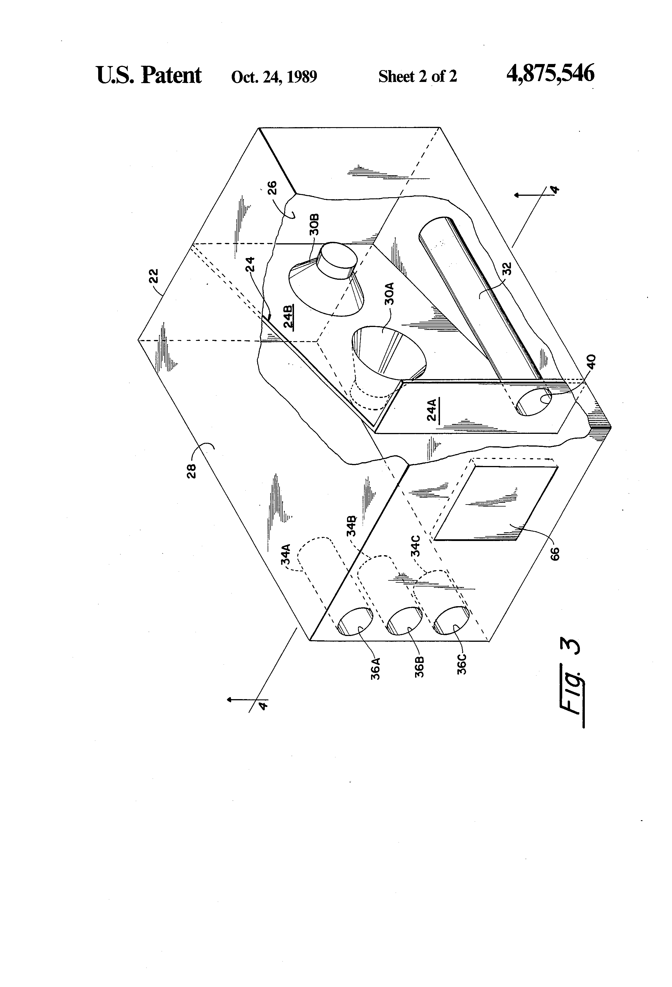 patent us4875546 - loudspeaker with acoustic band-pass filter