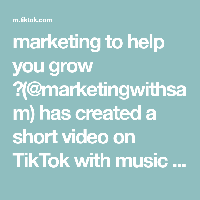 Marketing To Help You Grow Marketingwithsam Has Created A Short Video On Tiktok With Music The Gift Instrumental Marketing Marketing Tips Instagram Tips