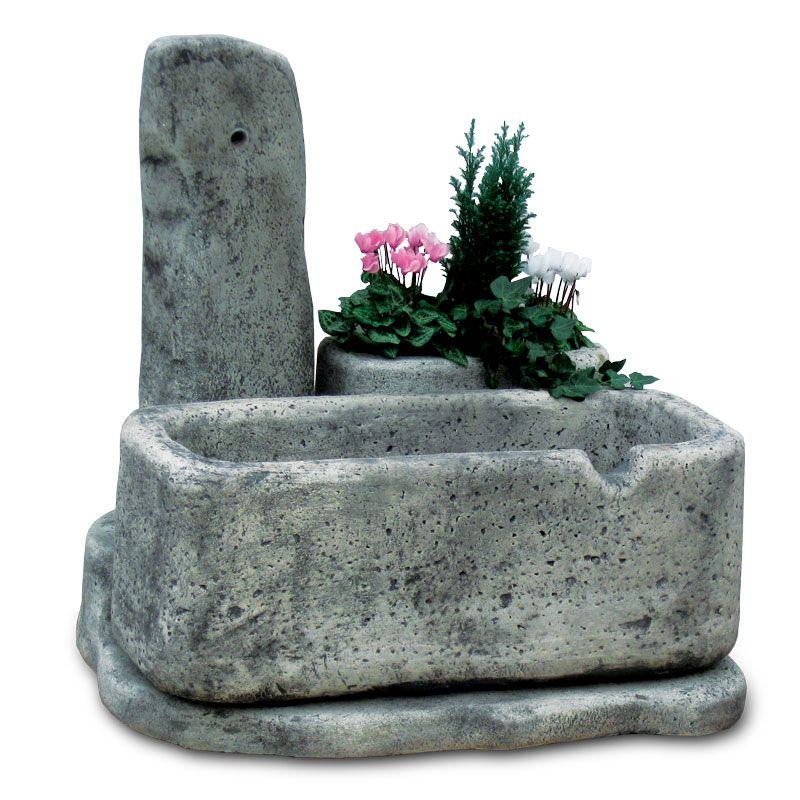 fontana in pietra ricostruita, mod. dolomiti 80, antichizzata ... - Fontanelle Da Giardino Prezzi