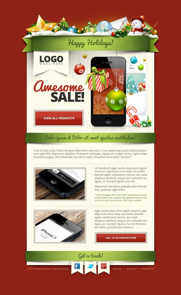 Freebie Christmas Newsletter Template PSD Free PSD Templates - Christmas newsletter template