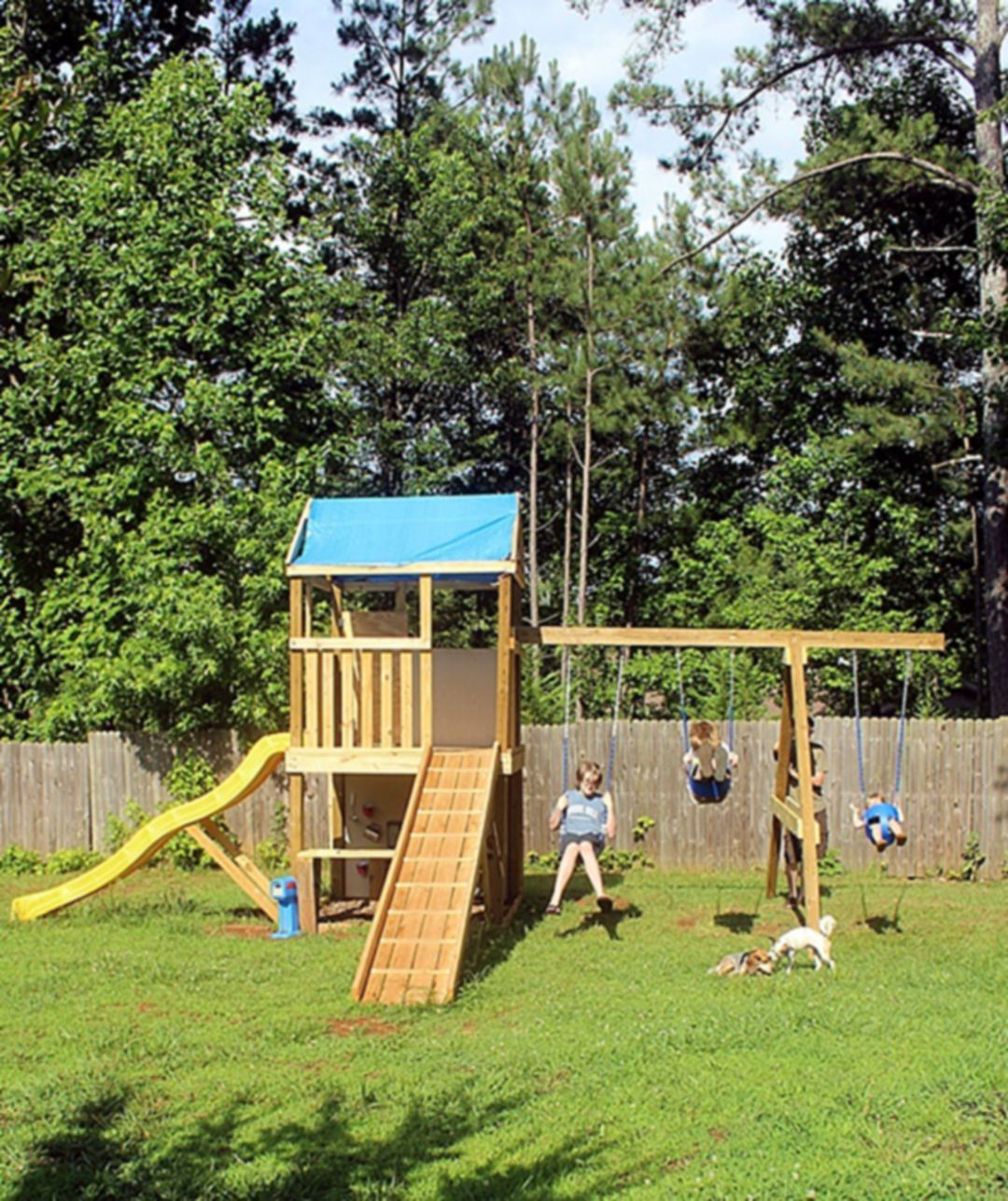 best inspiration to creates a creative swing garden for your