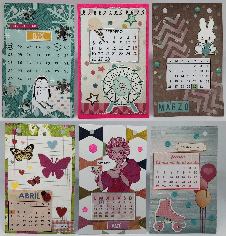 Calendario 2018 con marco de Ikea. Enero, febrero, marzo, abril ...