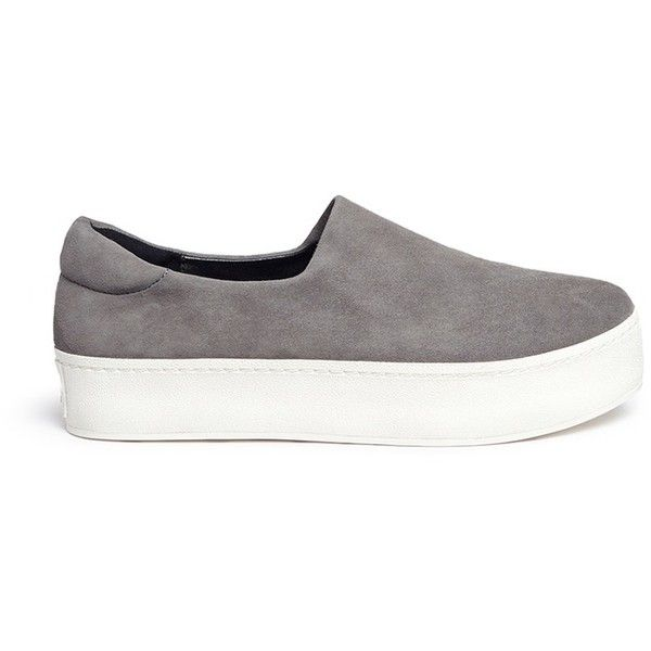Opening Ceremony 'Cici' suede flatform skate slip-ons found on Polyvore  featuring shoes