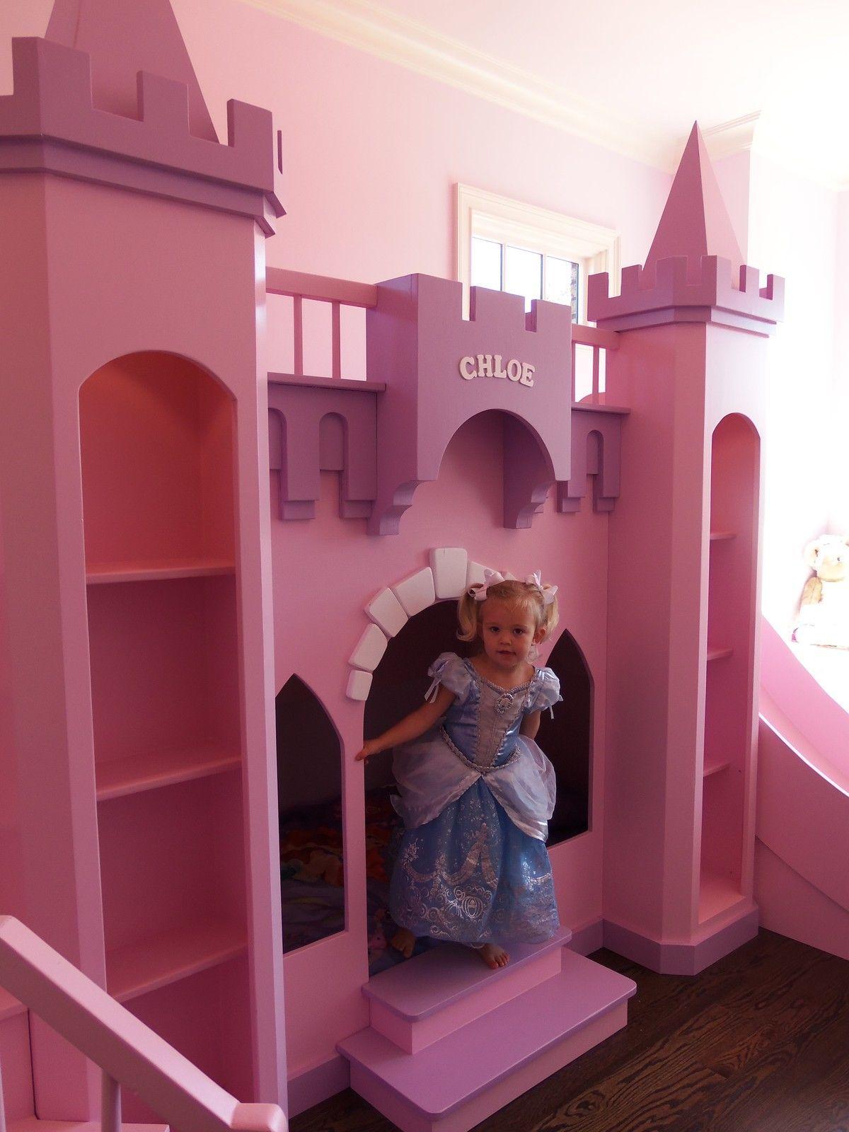 New Custom Princess Chloe s Castle Loft Bed Free LED Accent Lights