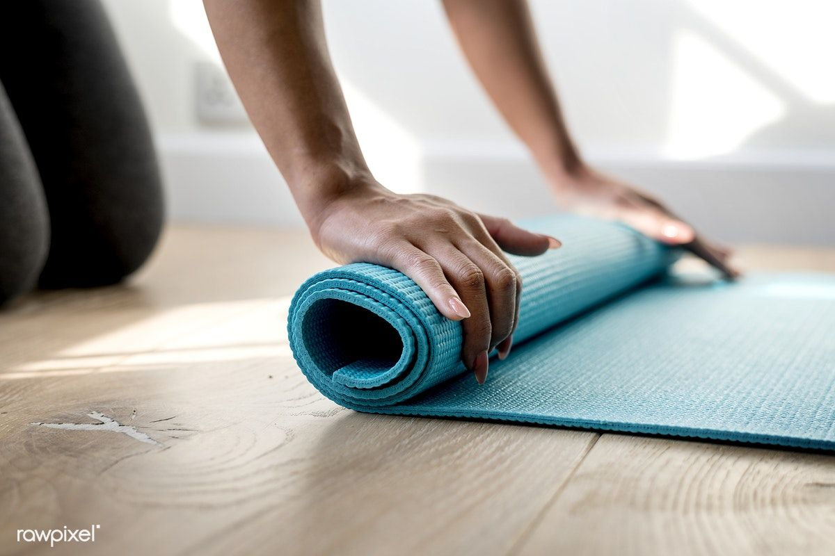 Woman Rolling Yoga Mat Free Image By Rawpixel Com Learn Yoga