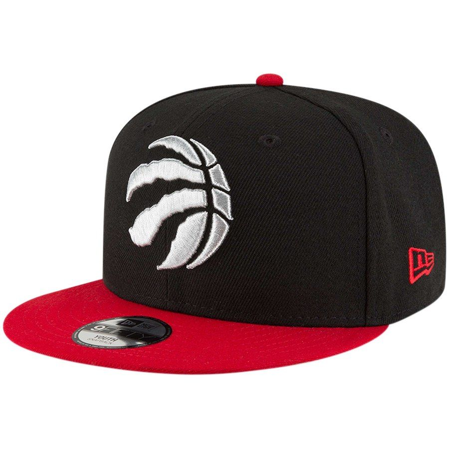 e66b39fc7 Youth Toronto Raptors New Era Black Red Two-Tone 9FIFTY Snapback Adjustable  Hat