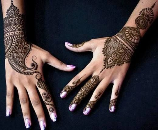 Latest Mehndi Hands : Latest mehndi designs for hands include that have