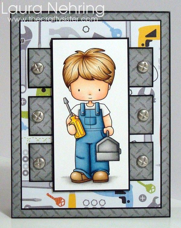 Whimsie Doodles - Mr. Fix It digital stamp